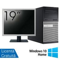 Pachet Calculator Dell OptiPlex 7010 Tower, Intel Core i5-3470 3.20GHz, 4GB DDR3, 500GB SATA, DVD-RW + Monitor 19 Inch + Windows 10 Home