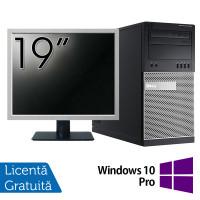 Pachet Calculator Dell OptiPlex 7010 Tower, Intel Core i5-3470 3.20GHz, 4GB DDR3, 500GB SATA, DVD-RW + Monitor 19 Inch + Windows 10 Pro