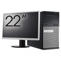Pachet Calculator Dell OptiPlex 7010 Tower, Intel Core i5-3470 3.20GHz, 4GB DDR3, 500GB SATA, DVD-RW + Monitor 22 Inch