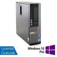 Calculator Dell OptiPlex 790 SFF, Intel Core i3-2100 3.10GHz, 4GB DDR3, 320GB SATA, DVD-ROM + Windows 10 Pro