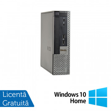 Calculator Dell OptiPlex 9020 USFF, Intel Core i5-4570s 2.90GHz, 8GB DDR3, 320GB SATA, DVD-RW + Windows 10 Home, Refurbished Calculatoare Refurbished