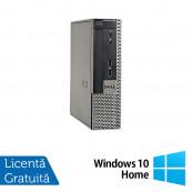 Calculator Dell OptiPlex 9020 USFF, Intel Pentium G3220 3.00GHz, 4GB DDR3, 250GB SATA, DVD-ROM + Windows 10 Home, Refurbished Calculatoare Refurbished