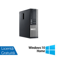 Calculator Dell 990 SFF, Intel Core i5-2400 3.10GHz, 4GB DDR3, 250GB SATA, DVD-RW + Windows 10 Home
