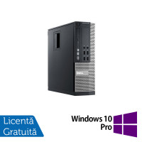 Calculator Dell 990 SFF, Intel Core i5-2400 3.10GHz, 4GB DDR3, 250GB SATA, DVD-RW + Windows 10 Pro