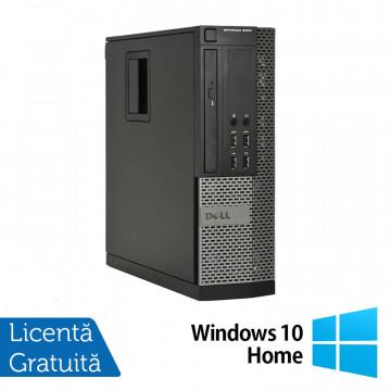 Calculator DELL OptiPlex 9010 SFF, Intel Core i5-3470 3.20GHz, 4GB DDR3, 250GB SATA, DVD-ROM + Windows 10 Home, Refurbished Calculatoare Refurbished