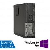 Calculator DELL OptiPlex 9010 SFF, Intel Core i5-3470 3.20GHz, 4GB DDR3, 250GB SATA, DVD-ROM + Windows 10 Pro, Refurbished Calculatoare Refurbished