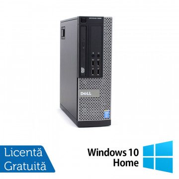 Calculator DELL OptiPlex 9020 SFF, Intel Core i7-4770 3.40GHz, 8GB DDR3, 500GB SATA, DVD-RW + Windows 10 Home, Refurbished Calculatoare Refurbished