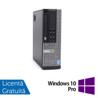 Calculator DELL OptiPlex 9020 SFF, Intel Core Pentium G3220 3.00GHz, 4GB DDR3, 250GB SATA, DVD-ROM + Windows 10 Pro