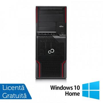Workstation FUJITSU CELSIUS W510, Intel Core i5-2400S 2.5GHz, 16GB DDR3, 120GB SSD + 2TB SATA, Placa video Nvidia Quadro 2000/1GB, DVD-ROM + Windows 10 Home, Refurbished Workstation