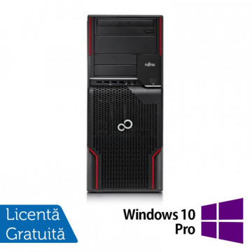 Workstation FUJITSU CELSIUS W510, Intel Core i5-2400S 2.5GHz, 16GB DDR3, 120GB SSD + 2TB SATA, Placa video Nvidia Quadro 2000/1GB, DVD-ROM + Windows 10 Pro, Refurbished Workstation