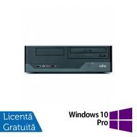 Calculator FUJITSU SIEMENS E3521, Intel Pentium E5800 3.20GHz, 4GB DDR3, 250GB SATA, DVD-RW + Windows 10 Pro