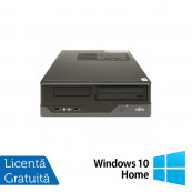 Calculator FUJITSU SIEMENS E400 SFF, Intel Core i3-2100 3.10GHz, 4GB DDR3, 250GB SATA, DVD-ROM + Windows 10 Home, Refurbished Calculatoare Refurbished