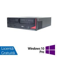 Calculator FUJITSU SIEMENS E410 Desktop, Intel Celeron G1610 2.60GHz, 4GB DDR3, 250GB SATA, DVD-RW + Windows 10 Pro