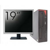 Pachet Calculator Fujitsu E420 Desktop, Intel Core i5-4460 3.20GHz, 4GB DDR3, 500GB SATA, DVD-RW + Monitor 19 Inch, Second Hand Oferte Pachete IT