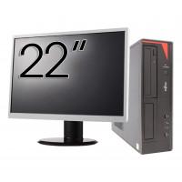 Pachet Calculator Fujitsu E420 Desktop, Intel Core i5-4460 3.20GHz, 4GB DDR3, 500GB SATA, DVD-RW + Monitor 22 Inch