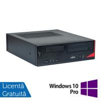 Calculator Fujitsu E520 SFF, Intel Pentium G3440 3.30GHz, 4GB DDR3, 250GB SATA, DVD-ROM + Windows 10 Pro
