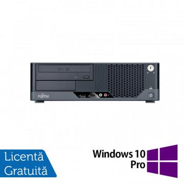 Calculator FUJITSU SIEMENS Esprimo E5731 SFF, Intel Pentium E5800 3.20GHz, 2GB DDR3, 250GB SATA, DVD-ROM + Windows 10 Pro, Refurbished Calculatoare Refurbished