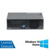 Calculator Fujitsu E7936 SFF, Intel Core 2 Duo E8400 3.00GHz, 4GB DDR3, 500GB SATA, DVD-ROM + Windows 10 Home, Refurbished Calculatoare Refurbished