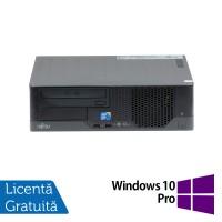 Calculator Fujitsu E7936 SFF, Intel Core 2 Duo E8400 3.00GHz, 4GB DDR3, 500GB SATA, DVD-ROM + Windows 10 Pro