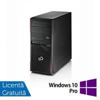 Calculator Fujitsu ESPRIMO P710 Tower, Intel Core i3-3220 3.30GHz, 4GB DDR3, 250GB SATA, DVD-RW + Windows 10 Pro