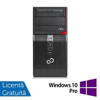 Calculator FUJITSU SIEMENS P420 Tower, Intel Core i3-4130 3.40GHz, 4GB DDR3, 500GB SATA, DVD-ROM + Windows 10 Pro