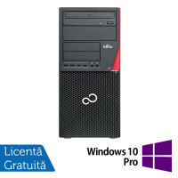 Calculator Fujitsu Siemens Esprimo P910 Tower, Intel Core i5-3470 3.20GHz, 4GB DDR3, 500GB SATA, Placa video Nvidia Geforce 605 1GB, DVD-RW + Windows 10 Pro