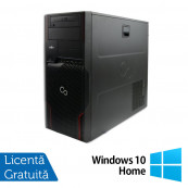 Workstation Fujitsu Celsius W510, Intel Xeon E3-1225 3.10GHz, 8GB DDR3, 500GB SATA, DVD-ROM + Windows 10 Home, Refurbished Workstation