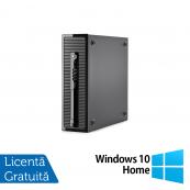 Calculator HP 400 G1 SFF, Intel Core i7-4770 3.40GHz, 8GB DDR3, 120GB SSD, DVD-RW + Windows 10 Home, Refurbished Calculatoare Refurbished