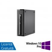 Calculator HP 400 G1 SFF, Intel Core i7-4770 3.40GHz, 8GB DDR3, 120GB SSD, DVD-RW + Windows 10 Pro, Refurbished Calculatoare Refurbished