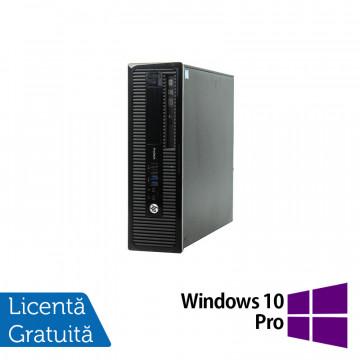 Calculator HP 400 G1 SFF, Intel Core i3-4130 3.40GHz, 4GB DDR3, 500GB SATA, DVD-RW + Windows 10 Pro, Refurbished Calculatoare Refurbished