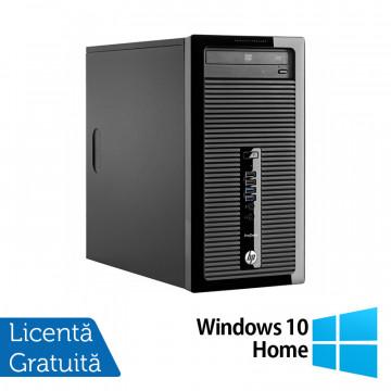 Calculator HP 400 G1 Tower, Intel Core i3-4130 3.40GHz, 4GB DDR3, 500GB SATA, DVD-ROM + Windows 10 Home, Refurbished Calculatoare Refurbished