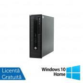 Calculator HP 400 G1 SFF, Intel Core i3-4130 3.40GHz, 4GB DDR3, 500GB SATA, DVD-RW + Windows 10 Home, Refurbished Calculatoare Refurbished