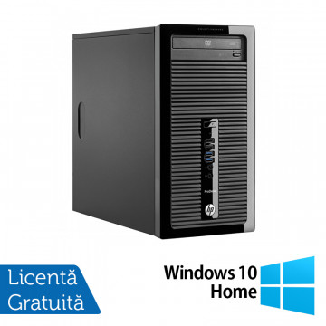 Calculator HP 400 G2 Tower, Intel Core i3-4130 3.40GHz, 4GB DDR3, 120GB SSD, DVD-RW + Windows 10 Home, Refurbished Calculatoare Refurbished
