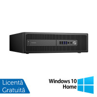 Calculator HP Prodesk 600 G2 SFF, Intel Core i3-6100 3.70GHz, 4GB DDR4, 500GB SATA, DVD-RW + Windows 10 Home