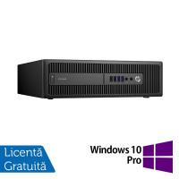 Calculator HP Prodesk 600 G2 SFF, Intel Core i3-6100 3.70GHz, 8GB DDR4, 240GB SSD + Windows 10 Pro