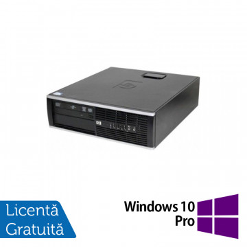 Calculator HP 6000 Pro Desktop, Intel Celeron E3300 2.50GHz, 4GB DDR3, 250GB SATA, DVD-ROM + Windows 10 Pro, Refurbished Calculatoare Refurbished