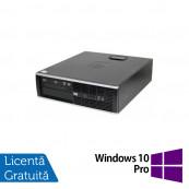 Calculator HP Compaq 6000 SFF, Intel Core2 Duo E7500 2.93GHz, 4GB DDR3, 320GB SATA, DVD-RW + Windows 10 Pro Calculatoare Refurbished