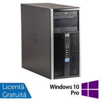 Calculator HP 6005 Pro Tower, AMD Athlon II x2 B22 2.80 GHz, 2GB DDR3, 250GB SATA, DVD-ROM + Windows 10 Pro