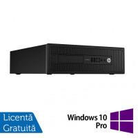 Calculator HP Prodesk 600G1 SFF, Intel Core i5-4590 3.30GHz, 8GB DDR3, 120GB SSD, DVD-RW + Windows 10 Pro