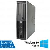 Calculator HP 6200 SFF, Intel Core i3-2100 3.10GHz, 4GB DDR3, 250GB SATA, DVD-ROM + Windows 10 Home, Refurbished Calculatoare Refurbished
