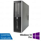 Calculator HP 6200 SFF, Intel Core i3-2100 3.10GHz, 4GB DDR3, 250GB SATA, DVD-ROM + Windows 10 Pro, Refurbished Calculatoare Refurbished