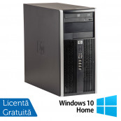 Calculator HP 6200 Tower, Intel Core i3-2100 3.10GHz, 4GB DDR3, 250GB SATA, DVD-ROM + Windows 10 Home (Top sale!), Refurbished Calculatoare Refurbished