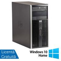 Calculator HP 6200 Tower, Intel Core i3-2100 3.10GHz, 8GB DDR3, 500GB SATA, DVD-ROM + Windows 10 Home
