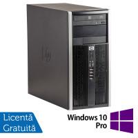 Calculator HP 6200 Tower, Intel Core i3-2100 3.10GHz, 8GB DDR3, 500GB SATA, DVD-ROM + Windows 10 Pro
