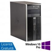 Calculator HP 6200 Tower, Intel Core i3-2100 3.10GHz, 8GB DDR3, 500GB SATA, GeForce GT210 512MB DDR3, DVD-ROM + Windows 10 Pro, Refurbished Calculatoare Refurbished