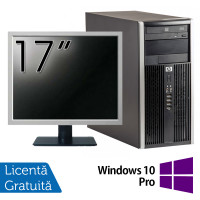 Calculator HP 6200 Tower, Intel Pentium G645 2.90GHz, 4GB DDR3, 250GB SATA, DVD-ROM + Monitor 17 Inch + Windows 10 Pro (Top Sale!)