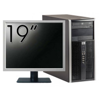 Pachet Calculator HP 6200 Tower, Intel Core i3-2100 3.10GHz, 4GB DDR3, 250GB SATA, DVD-ROM + Monitor 19 Inch (Top Sale!)