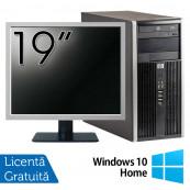 Calculator HP 6200 Tower, Intel Core i3-2100 3.10GHz, 4GB DDR3, 250GB SATA, DVD-ROM + Monitor 19 Inch + Windows 10 Home (Top Sale!), Refurbished Calculatoare Refurbished