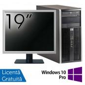Calculator HP 6200 Tower, Intel Core i3-2100 3.10GHz, 4GB DDR3, 250GB SATA, DVD-ROM + Monitor 19 Inch + Windows 10 Pro (Top Sale!), Refurbished Calculatoare Refurbished