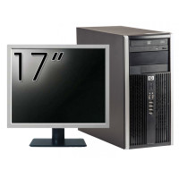 Pachet Calculator HP 6200 Tower, Intel Pentium G645 2.90GHz, 4GB DDR3, 250GB SATA, DVD-ROM + Monitor 17 Inch (Top Sale!)